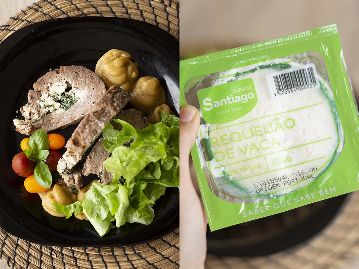 Rolo de Carne com Requeijão e Espinafres