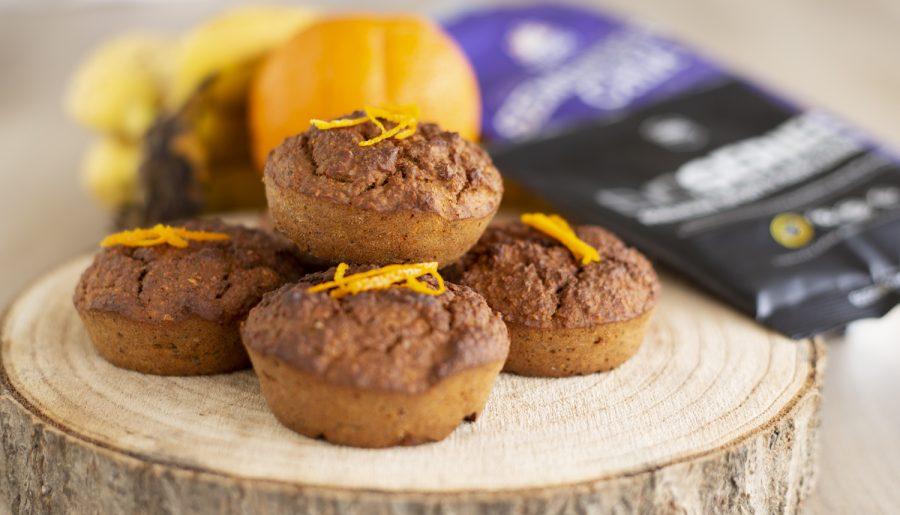 Muffins de Laranja e Banana
