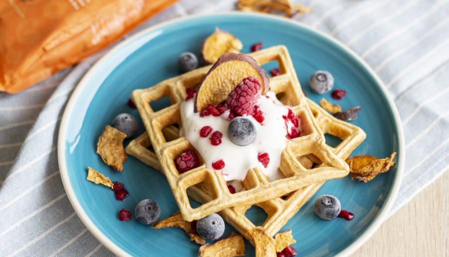 waffles de aveia e coco
